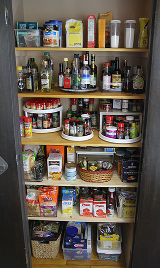 Everything is now within reach and sight in this newly organized kitchen pantry