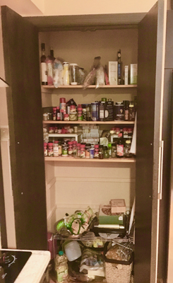 New shelves & organizing tools make the pantry more functional