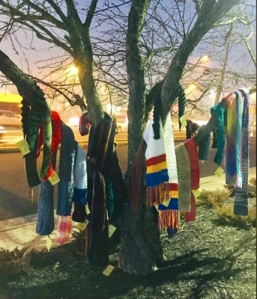 Chase the Chill chapters distribute scarves to those in need